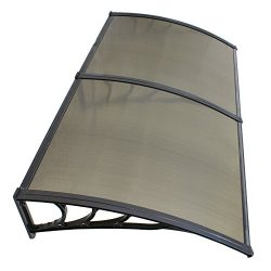 """40"""" x 80"""" Window Awning Door Canopy Polycarbonate Cover Outdoor Front Door Patio Sun ..."""