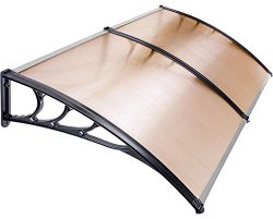 Earthquake Sound PB1024HB Window/Patio Awning with Plastic Frames and Hollow Polycarbonate Panel ...