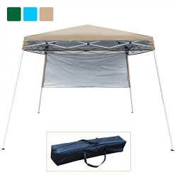 Quictent Silvox 10×10 EZ Pop Up Canopy Tent Instant Canopy Party Tent 8.7 ft height 4 Walls ...