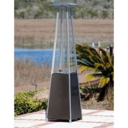 Golden Flame Resort Model 40,000 BTU Glass Tube Pyramid Style Flame Patio Heater in Rich-Mocha F ...