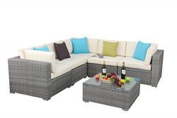 Do4U 3-12 Pieces Outdoor Rattan Sofa Wicker Sectional Patio Furniture set | Patio, Backyard, Poo ...