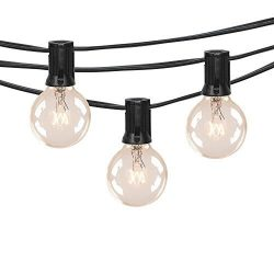 50Ft G40 Globe String Lights with Clear Bulbs for Indoor/Outdoor Commercial Decor,Outdoor String ...
