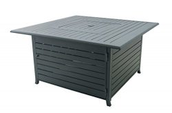 Legacy Heating 44.8 Inch Square Fire Pit Table, Hammered Black powder coated finish