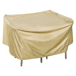 Sundale Outdoor Heavy Duty Cover for Patio Wicker Bar Set Cover with PVC Coating Waterproof, fit ...