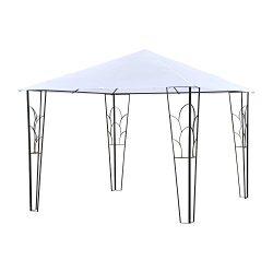 Outsunny 10′ x 10′ Outdoor Decorative Garden Gazebo Patio Canopy Steel Frame – ...