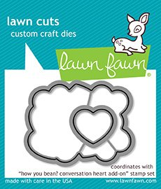 Lawn Fawn LF1554 How You Bean? Conversation Heart Add-On Custom Craft Die Set