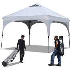 ABCCANOPY Pop Up Canopy Beach Canopy 10'x10′ Bonus Backpack Carry Bag+4 x Sandbags,  ...