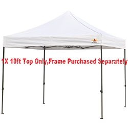 ABCCANOPY Deluxe replacement canopy top/roof for 10×10 ft Ez Pop Up canopy gazebo,NOT INCLU ...