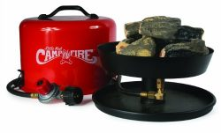 Camco Little Red Campfire 11.25-Inch Portable Propane Outdoor Camp Fire by, Approved For RV Camp ...