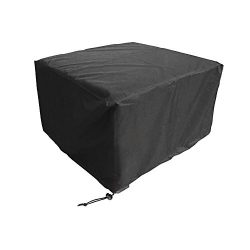 WOMACO Heavy Duty Square Patio Fire Pit/Table Cover, Waterproof Outdoor Furniture Cover (48&#824 ...