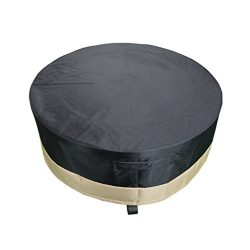 Stanbroil Full Coverage Round Fire Pit Cover/Table, Black, 60 Inch