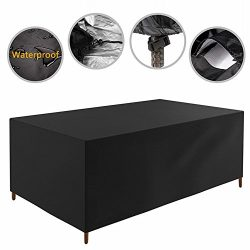 126 x 87x 28 inch Patio Furniture Cover Water Resistant Durable Outdoor Table and Chair Cover Re ...