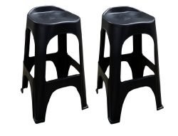 Adams Manufacturing 8350-02-3702 Real Comfort 2-Pack Bar Stool, 30-Inch, Black
