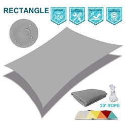 SoLGear Waterproof UV Block 12'x12′ Sun Shade Sail Canopy Square Polyester for Pergo ...