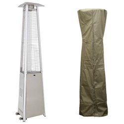 AZ Patio Stainless Steel Commercial Glass Tube Patio Heater HLDS01-CGTSS with 94″ Triangul ...