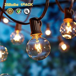 Globe String Lights G40 UL Listed Patio Lights For Indoor Outdoor Commercial Decor 25Ft With 25  ...