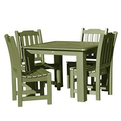 Highwood AD-DNL44-SGE Lehigh 5-Piece Square Dining Set 42-Inch 5, Dried Sage
