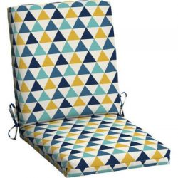 Mainstays Outdoor Patio Dining Chair Cushion (Triangle)