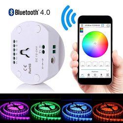 Korjo DC12V 24V LED Strip Light Bluetooth Controller for RGB RGBW Light Strip Magic UFO Smartpho ...