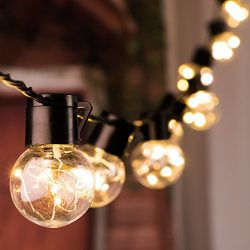 17 Ft. Shatterproof LED Patio Outdoor String Lights with 20 Clear LED Bulbs, Hanging Indoor Wate ...