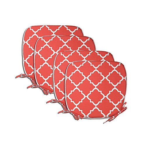 Pacificasual Indoor Outdoor All Weather Chair Pads Seat Cushions Garden