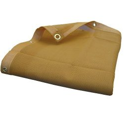 14'X14′ (Beige / Tan) Heavy Duty Mesh Tarp Net Sail Sun Shade Awning and Fence Scree ...