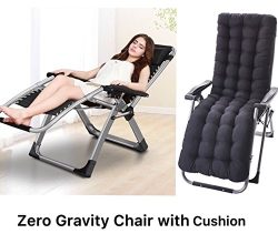 Four Seasons Zero Gravity Chair WITH CUSHION Lounge Recliner Folding Adjustable Office Patio Bea ...