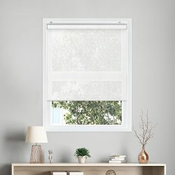 Chicology Snap-N'-Glide Cordless Roller Shades UV Blocking Fabric Window Blind, 33″  ...