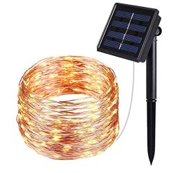 Solar String Lights, 40FT Starry String Lights, Indoor/Outdoor Waterproof Copper Wire Lights for ...
