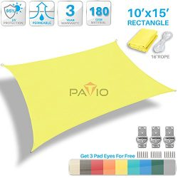Patio Paradise 10′ x 15′ Canary Yellow Sun Shade Sail Rectangle Square Canopy &#8211 ...