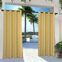 Exclusive Home Indoor/Outdoor Solid Cabana Window Curtain Panel Pair with Grommet Top, Sundress  ...
