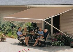 12FT SunSetter Taupe 1000XT Retractable Awning