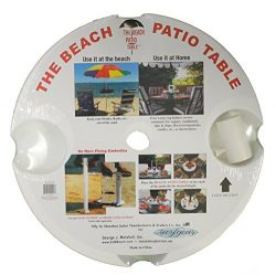 The Beach – Patio Table, 18 Inch Diameter , White