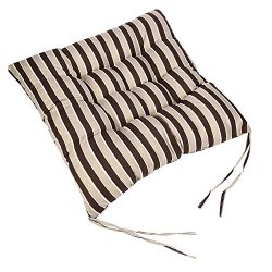 Sothread Soft Striped Chair Cushion Indoor/Outdoor Garden Patio Home Kitchen Office Sofa Seat Pa ...