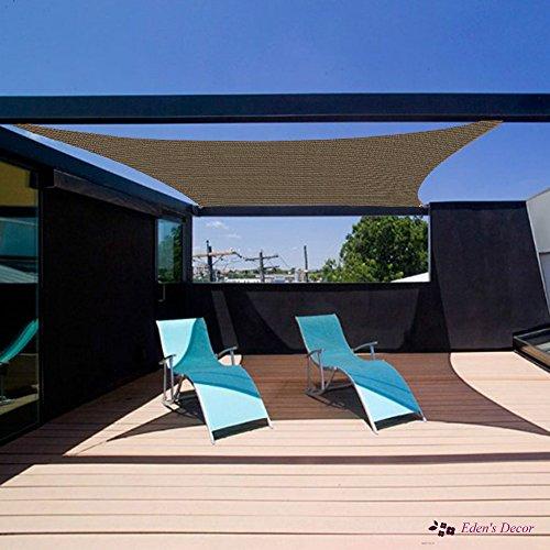 Eden S Decor Rectangle Sun Shade Sail Uv Block Fabric For