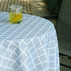ColorBird Elegant Trellis Outdoor Tablecloth Waterproof Spillproof Polyester Fabric Table Cover  ...