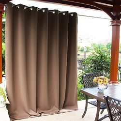 NICETOWN Outdoor Curtain Panel for Patio – Grommet Top Thermal Insulated Bedroom Blackout  ...