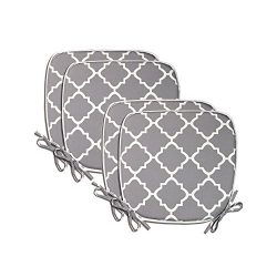 PacifiCasual Indoor/Outdoor All Weather Chair Pads Seat Cushions Garden Patio Home Chair Cushion ...