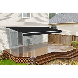 ALEKO AW12X10BK81 Retractable Patio Awning 12 x 10 Feet Black