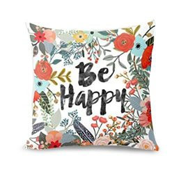 Hot Sale!!! Lovers Pillow Case,Valentine's Day Be Happy Surrounded With Flowers And Plants ...