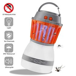 Texsens Bug Zapper & Camping Lantern IP67 Rainproof 2-in-1 Cordless Mosquito Killer Lamp Rec ...
