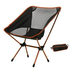 Hindom Ultralight Portable Folding Camping Backpacking Chairs with Carry Bag for Outdoor Fishing ...
