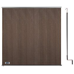 Cool Area 6ft x 6ft Outdoor Cordless Roller Sun Shade for Proch Patio in color Burnt Umber