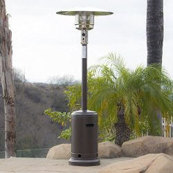 Belleze 48,000BTU Patio Standing Heater, Propane, CSA Certified, Auto Tilt Shutoff, Mocha