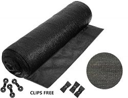 90% 6ft X 10ft Heavy Duty BIack Sunblock Shade Cloth -Cut Edge with Free clips for Plant Cover G ...