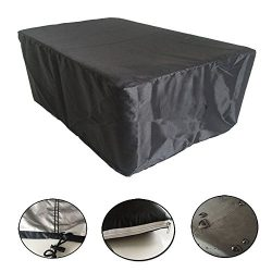 Moinco Patio Outdoor Protective Sofa Cover Garden Furniture Cover All Weather Drawstring-Small Black