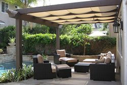 OriginA Patio Shade Fabric for Greenhouse,Pond Cover,Pergola Cover,Patio Side Fence 12x16ft Beige
