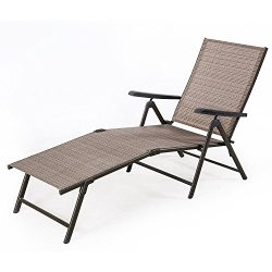BaoChen Outdoor Chaise Lounge Chair – Adjustable Folding Patio Pool Beach Sunny Recliner L ...