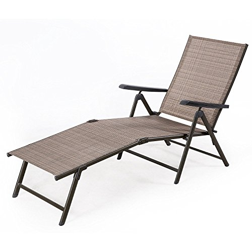 Baochen Outdoor Chaise Lounge Chair Adjustable Folding