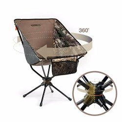 Sleep Revolution Compaclite Patented Oversize 360 Swivel Steel Camping Portable Chair for Outdoo ...